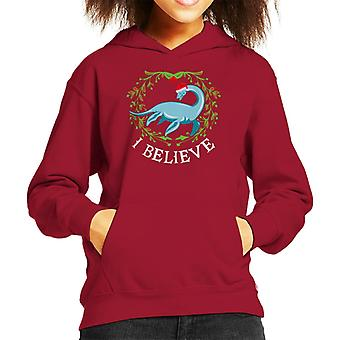 Nessie Natale credo Hooded Sweatshirt di Kid