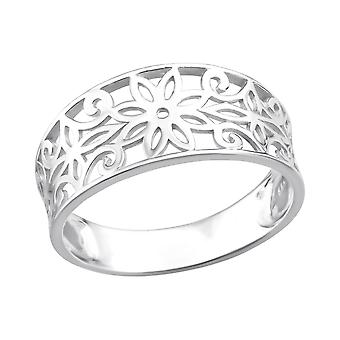 Flower - 925 Sterling Silver Plain Rings - W36760x