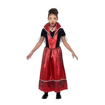 Vampire Princess Costume, Halloween Child Fancy Dress, Medium Age 7-9