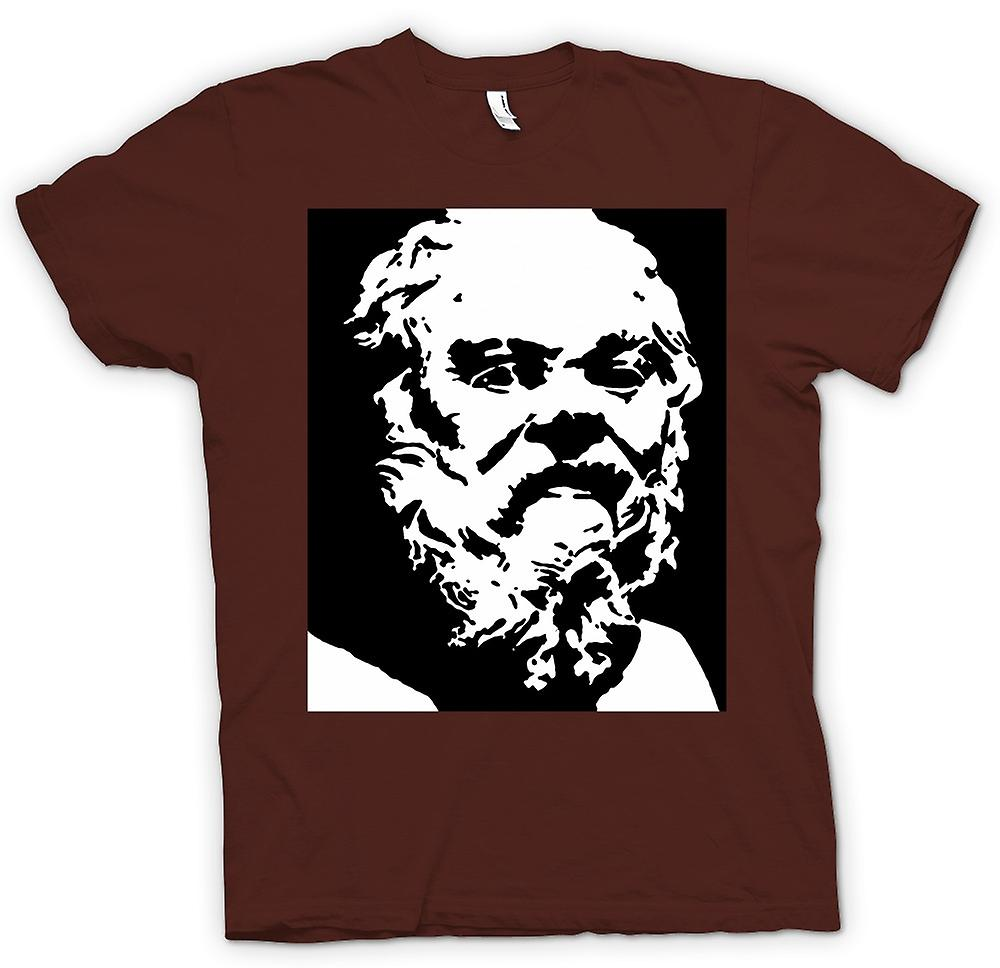 Heren T-shirt - Socrates - stencilpictogram