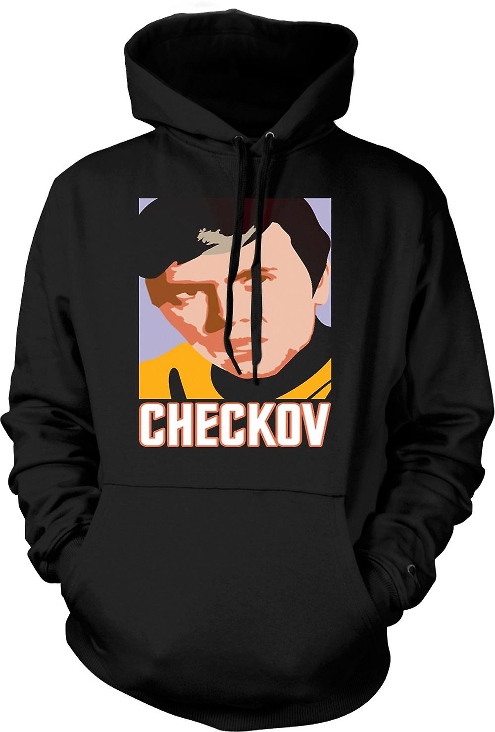 Mens Hoodie - Star Trek - Pop Art - Checkov