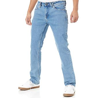 Volcom Stone Blue Solver Modern Straight Fit Jeans