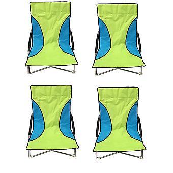 4 verde Nalu pieghevole basso sedile sedia campeggio sedie da spiaggia