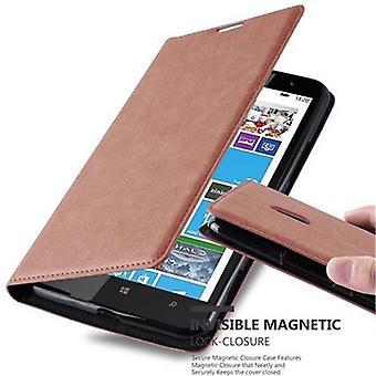 Cadorabo tilfældet for Nokia Lumia 1320 sag Cover-telefon tilfældet med magnetisk lukning, stativ funktion og kort case rum-sag Cover sag sag sag case sag bog folde stil