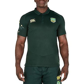 Canterbury Mens Kangaroos Replica Pro Dry Rugby Polo Shirt