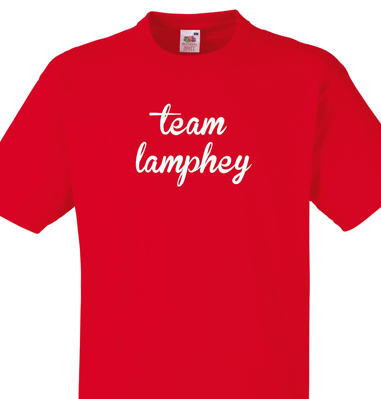 Team Lamphey Red T shirt