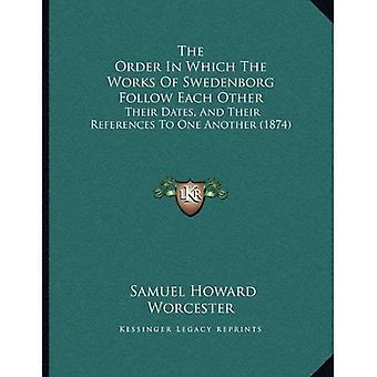 Rekkefølgen som verk av Swedenborg følger hverandre: datoene og referansene til hverandre...