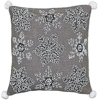 Riva Paoletti Christmas Snowflakes Cushion Cover