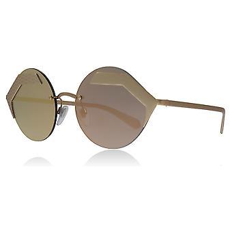 Bvlgari BV6089 20134Z lyserød / guld BV6089 Oval solbriller linse kategori 3 linse spejlede størrelse 55mm