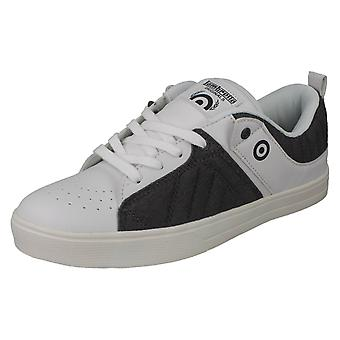 Mens Lambretta Skater Style Trainers New Denim