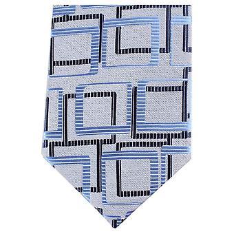 Knightsbridge Neckwear Multi Square régulière Polyester Tie - gris/bleu