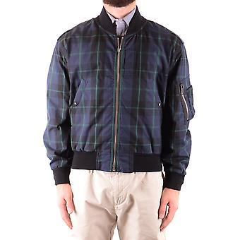 Burberry Blue Cotton Outerwear Jacket