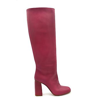 Red Valentino Fuchsia Leather Boots