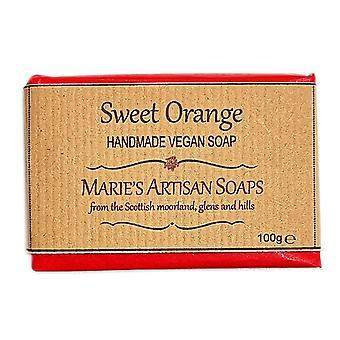 Marie's Artisan Soaps Handmade Vegan Soap 100g - Sweet Orange