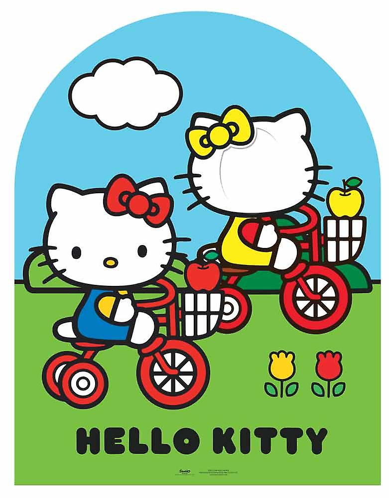 Child Size Hello Kitty and Mimmy Cardboard Stand-in Cutout / Standup