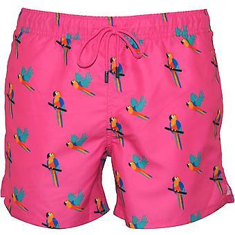 Happy Socks Parrots Swim Shorts, Candy Pink