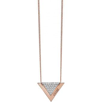 Necklace and pendant reverse UBN83069 - necklace and pendant set Triangle Guess Rose Gold woman