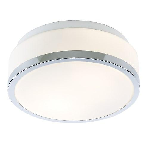 Searchlight 7039-28CC Bathroom Ceiling Light With Opal Glass And Chrome Trim IP44