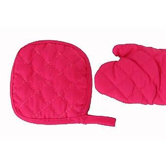 Pot Holder & Mitten - Pink for 18 Inch Dolls