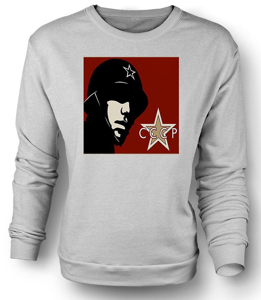 Mens Sweatshirt CCCP Russisch - Propaganda Poster