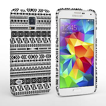 Caseflex Samsung Galaxy S5 Case Black White Aztec Case