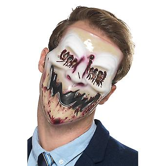 Smiling Bloody Horror Mask Carnival Halloween Accessory Blood Smile Mask