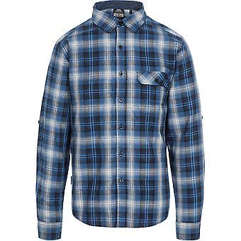 Trespass Mens Shougle Button Down Long Sleeve Casual Shirt