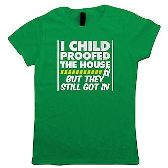Child bevis The House Womens Funny T-skjorte | Foreldreomsorg foreldre barn sønn datter Twins | Humor latter sarkasme vitser messing komedie | Foreldre Joke gave henne mamma