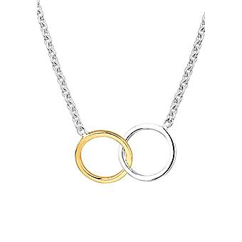Elli Women's Necklace in Silver 925 with Colored Circles in Silver and Yellow Gold