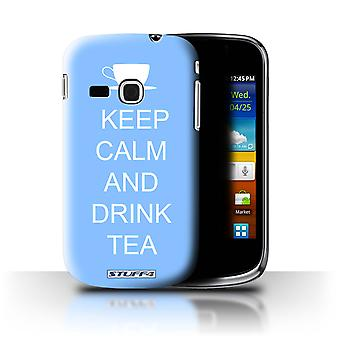 STUFF4 Case/Cover for Samsung Galaxy Mini 2/S6500/Drink Tea/Blue/Keep Calm