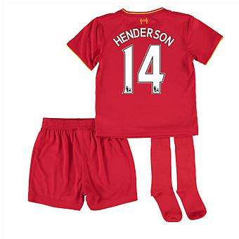2016-17 Liverpool Home Mini Kit (Henderson 14)