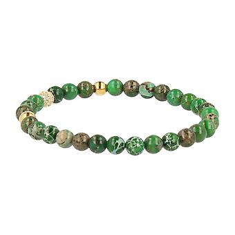 FUNKYPEARLS jewelry - 6 mm stone Beads Bracelet 19 cm Green
