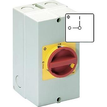 Disconnector lockable 40 A 1 x 90 ° Red, Yellow