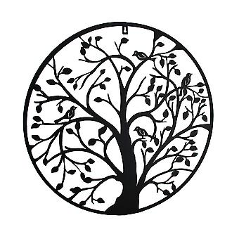 Aves na árvore decorativa Metal da suspensão de parede 24 em.