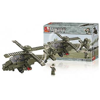 Sluban Building Blocks Army Series Attack Helicopter