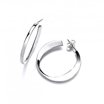 Cavendish French Silver Smile Hoop Earrings