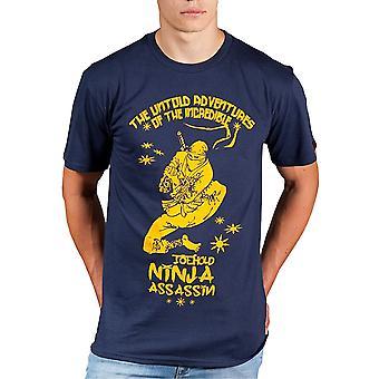 Gawakoto Ninja Toe Hold T-Shirt-Navy