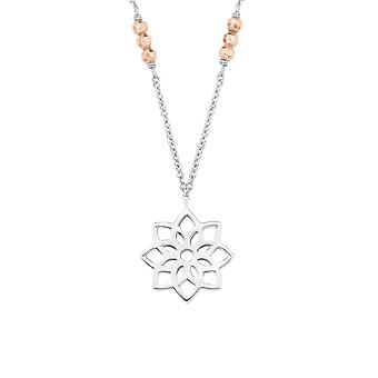s.Oliver jewel ladies necklace-silver bicolor SO PURE flower 2017219