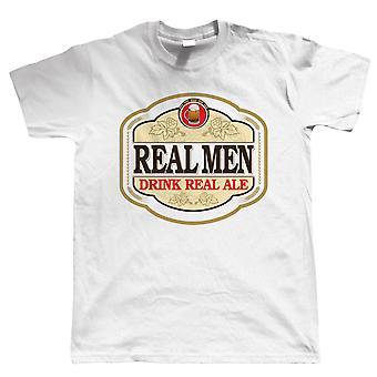Echte mannen drinken Real Ale, Mens bier waardering Tshirt