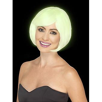 Glow in the dark Bob wig ladies light wig
