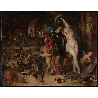 Peter Paul Rubens - Mars Disarmed by Venus Poster Print Giclee