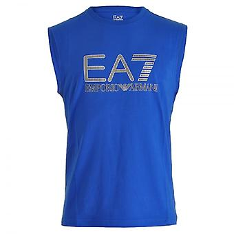 EA7 Emporio Armani Train Visibility Logo Tank Top , Royal Blue, X-Large