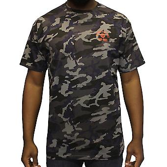 Crooks & Castles Quiet Storm T-Shirt Black Camo