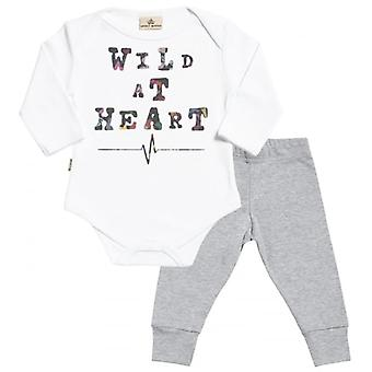 Spoilt Rotten Wild At Heart Babygrow & Jersey Trousers Outfit Set