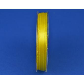 7mm Polyester Satin Craft Ribbon - 10m Reel - Bright Yellow