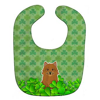 Carolines Treasures  BB6161BIB Norwich Terrier Shamrocks Baby Bib