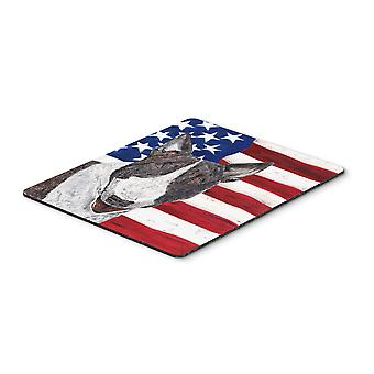 Carolines Treasures  SC9519MP Bull Terrier USA American Flag Mouse Pad, Hot Pad