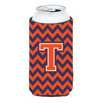 الحرف T شيفرون صبي طويل القامة الأزرق البرتقالي المشروبات عازل نعالها