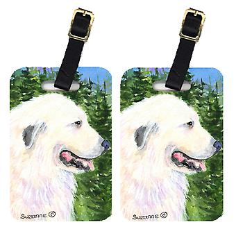 Carolines Treasures  SS8922BT Pair of 2 Great Pyrenees Luggage Tags