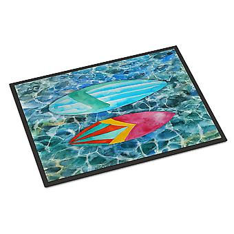 Surf Boards on the Water Indoor or Outdoor Mat 18x27